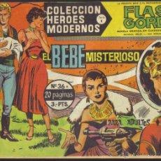 Tebeos: FLASH GORDON Nº 36 . EL BEBE MISTERIOSO. COLECCION HEROES MODERNOS, SERIE B.. Lote 39936526