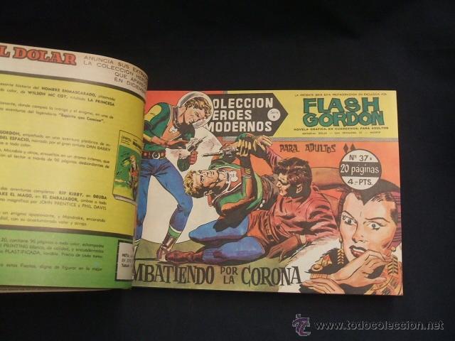 Tebeos: FLASH GORDON - 2 TOMOS ENCUADERNADOS - NUMEROS 1 A 45 Y 47 A 52 - DOLAR - - Foto 10 - 40083273