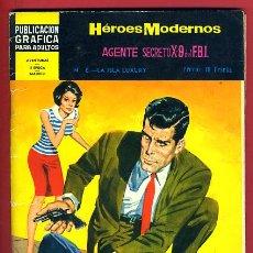 Tebeos: HEROES MODERNOS , DOLAR , AGENTE SECRETO X9 FBI , Nº 6 , DOLAR , ORIGINAL , A. Lote 42689501