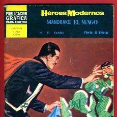 Giornalini: HEROES MODERNOS , DOLAR , MANDRAKE EL MAGO , Nº 23 , DOLAR , ORIGINAL , A. Lote 42689630