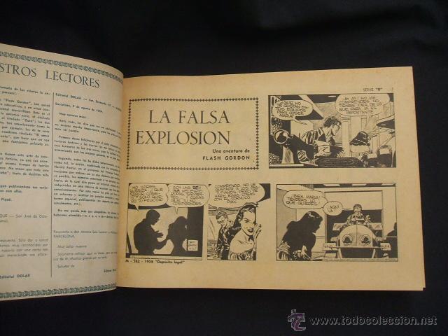 Tebeos: FLASH GORDON - 2 TOMOS ENCUADERNADOS - NUMEROS 1 A 45 Y 47 A 52 - DOLAR - - Foto 26 - 40083273