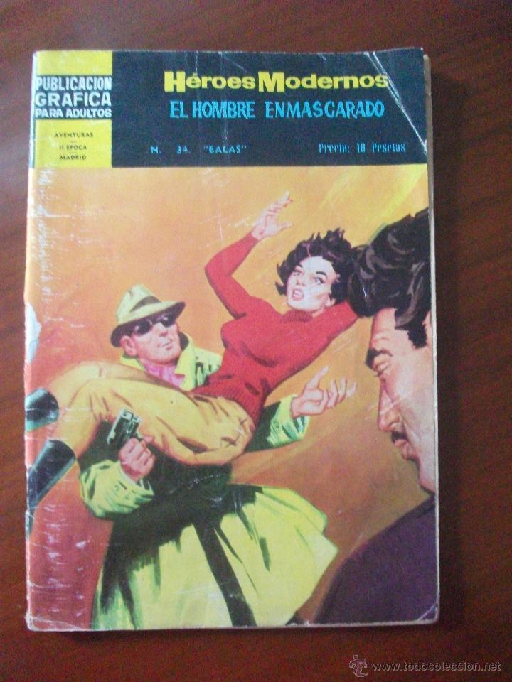 HEROES MODERNOS EL HOMBRE ENMASCARADO Nº 34 EDITORIAL DOLAR (Tebeos y Comics - Dólar)