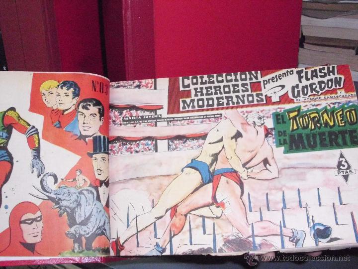 COLECCION HEROES MODERNOS: FLASH GORDON. 2 TOMOS ENCUADERNADOS (VER DESCRIPCION. EDT. DOLAR. (RF.MA) (Tebeos y Comics - Dólar)