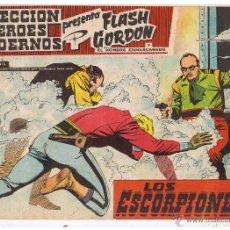 Tebeos: COLECCION HEROES MODERNOS. FLASH GORDON. Nº 54. LOS ESCORPIONES. EDIT. DOLAR 1958 (C/A26). Lote 47052236