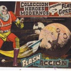 Tebeos: COLECCION HEROES MODERNOS. FLASH GORDON. Nº 55. FLASH EN ACCIÓN. EDIT. DOLAR 1958 (C/A26). Lote 47052262