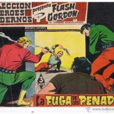 Tebeos: COLECCION HEROES MODERNOS. FLASH GORDON. Nº 57. LA FUGA DE LOS PENADOS. EDIT. DOLAR 1958 (C/A26). Lote 47052294
