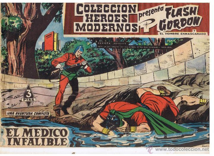 COLECCION HEROES MODERNOS. FLASH GORDON. Nº 11. EL MÉDICO INFALIBLE. EDIT. DOLAR 1958 (C/A26) (Tebeos y Comics - Dólar)
