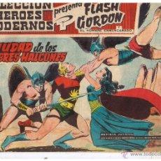 Tebeos: COLECCION HEROES MODERNOS. FLASH GORDON. Nº 02. LA CIUDAD DE LOS HOMBRES HALCONES.DOLAR 1958 (C/A26). Lote 47052399