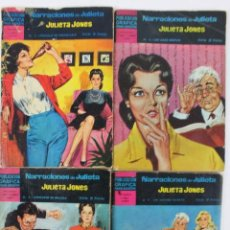 Tebeos: RV-157. JULIETA JONES. EDITORIAL DOLAR. LOTE DE 4 REVISTAS NARRACIONES DE JULIETA. AÑO 1966.. Lote 48848219