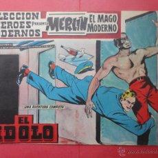 Tebeos: HÉROES MODERNOS. Nº 10. MERLÍN. AÑO 1958 (ORIGINAL). Lote 49316600