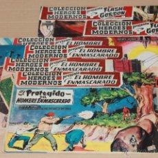 Tebeos: DOLAR 1960 - HÉROES MODERNOS, SERIE 0: FLASH GORDON 010 011, EL HOMBRE ENMASCARADO 010 011 012 016. Lote 50181815