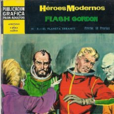 Tebeos: FLASH GORDON (HÉROES MODERNOS II ÉPOCA) Nº 8. EL PLANETA ERRANTE. NOVELA GRÁFICA ORIGINAL 1.966.. Lote 56083237