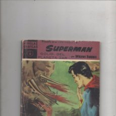 Tebeos: SUPERMAN Nº 18 GOLIO DEL PLANETA ZAR.WAYNE BORING.SERIE VIOLETA.ÚLTIMO DE LA COLECCIÓN.DOLAR 1960.DA. Lote 56129435
