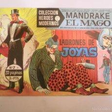 Tebeos: COLECCION HEROES MODERNOS - MANDRAKE EL MAGO NUM 7 - EDITORIAL DOLAR - 1958 - MBE. Lote 56162830