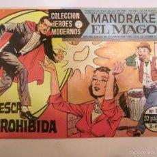Tebeos: COLECCION HEROES MODERNOS - MANDRAKE EL MAGO NUM 11 - EDITORIAL DOLAR - 1958 - MBE. Lote 56162843