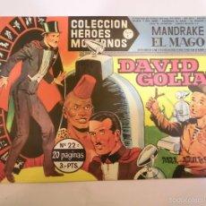 Tebeos: COLECCION HEROES MODERNOS - MANDRAKE EL MAGO NUM 22 - EDITORIAL DOLAR - 1958 - MBE. Lote 56162860