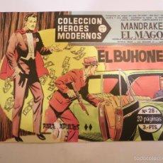 Tebeos: COLECCION HEROES MODERNOS - MANDRAKE EL MAGO NUM 28 - EDITORIAL DOLAR - 1958 - MBE. Lote 56162881