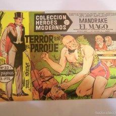Tebeos: COLECCION HEROES MODERNOS - MANDRAKE EL MAGO NUM 33 - EDITORIAL DOLAR - 1958 - MBE. Lote 56162898