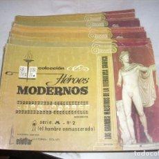 Tebeos: LOTE DE TRECE EJEMPLARES DE HÉROES MODERNOS, DE EDITORIAL DOLAR. Lote 75406875
