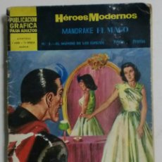 Tebeos: HÉROES MODERNOS - MANDRAKE EL MAGO Nº3 - EL MUNDO DE LOS ESPEJOS - AÑO I / II ÉPOCA - DOLAR. Lote 88463680