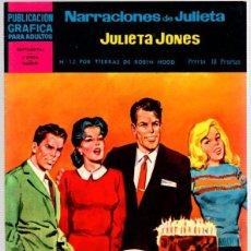 Livros de Banda Desenhada: JULIETA JONES. NARRACIONES DE JULIETA. Nº 12. POR TIERRAS DE ROBIN HOOD. POR STAN DRAKE. AÑO 1959. Lote 99731051