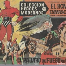 Tebeos: TEBEO. COLECCION HEROES MODERNOS. EL HOMBRE ENMASCARADO. SERIE A. Nº 18. PAJARO DE FUEGO DE GANDOR. Lote 109343803