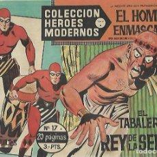 Tebeos: TEBEO. COLECCION HEROES MODERNOS. EL HOMBRE ENMASCARADO. SERIE A. Nº 17. EL TABALERO REY DE LA SELVA. Lote 109344087