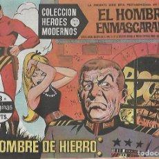 Tebeos: TEBEO. COLECCION HEROES MODERNOS. EL HOMBRE ENMASCARADO. SERIE A. Nº 13. UN HOMBRE DE HIERRO. Lote 109344443