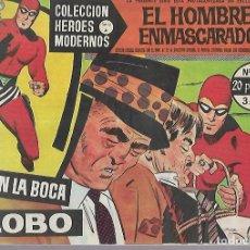 Tebeos: TEBEO. COLECCION HEROES MODERNOS. EL HOMBRE ENMASCARADO. SERIE A. Nº 12. EN LA BOCA DEL LOBO. Lote 109344599