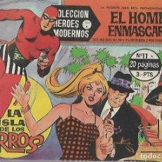 Tebeos: TEBEO. COLECCION HEROES MODERNOS. EL HOMBRE ENMASCARADO. SERIE A. Nº 11. LA ISLA DE LOS PERROS. Lote 109344643