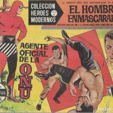 Tebeos: TEBEO. COLECCION HEROES MODERNOS. EL HOMBRE ENMASCARADO. SERIE A. Nº 10. AGENTE OFICIAL DE LA ONU. Lote 109344671