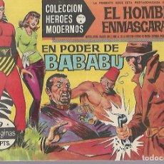 Tebeos: TEBEO. COLECCION HEROES MODERNOS. EL HOMBRE ENMASCARADO. SERIE A. Nº 9. EN PODER DE BABABU. Lote 109344891