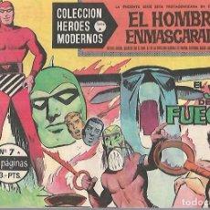 Tebeos: TEBEO. COLECCION HEROES MODERNOS. EL HOMBRE ENMASCARADO. SERIE A. Nº 7. EL JUICIO DE FUEGO. Lote 109344991