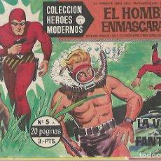 Tebeos: TEBEO. COLECCION HEROES MODERNOS. EL HOMBRE ENMASCARADO. SERIE A. Nº 5. LA VUELTA DEL FANTASMA. Lote 109345083