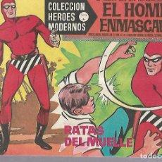 Tebeos: TEBEO. COLECCION HEROES MODERNOS. EL HOMBRE ENMASCARADO. SERIE A. Nº 4. RATAS DEL MUELLE. Lote 109345115