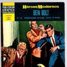Livros de Banda Desenhada: HEROES MODERNOS. BEN BOLT. Nº 16. INVESTIGADOR PRIVADO. POR JOHN CULLEN MURPHY. AÑO 1960. Lote 112978883