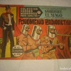 Tebeos: COLECCION HEROES MODERNOS N 45 MANDRAKE EL MAGO. Lote 113107859