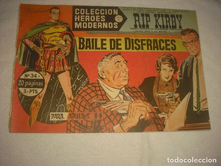 COLECCION HEROES MODERNOS N 34, RIP KIRBY (Tebeos y Comics - Dólar)