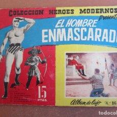 Tebeos: COLECCION HEROES MODERNOS , ALBUM DE LUJO N. 16 EL HOMBRE ENMASCARADO , DOLAR. Lote 117021903
