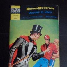Tebeos: HEROES MODERNOS II ÉPOCA Nº 18, CON MANDRAKE, EDITORIAL DÓLAR . Lote 121670367