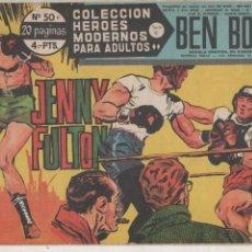 Tebeos: HEROES MODERNOS SERIE C Nº 50. BEN BOLT. JENNY FULTON. DOLAR 1965. DAN BARRY.DA. Lote 121974887