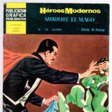 Tebeos: MANDRAKE EL MAGO POR LEE FALK. Nº 23. XANDU. HEROES MODERNOS. DOLAR. AÑO 1960. Lote 130484283