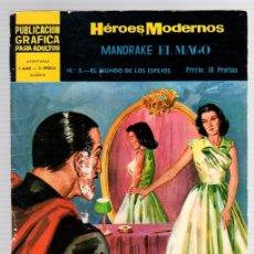 Livros de Banda Desenhada: MANDRAKE EL MAGO POR LEE FALK. Nº 3. EL MUNDO DE LOS ESPEJOS. HEROES MODERNOS. DOLAR. AÑO 1959. Lote 131996266