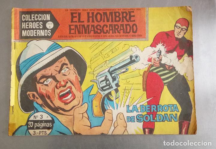 COMIC, EL HOMBRE ENMASCARADO, LA DERROTA DE SOLDAN, COLECCION HEROES MODERNOS , Nº 3, DOLAR (Tebeos y Comics - Dólar)
