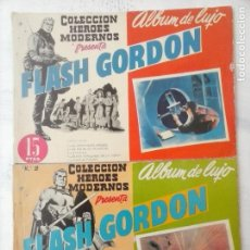 Tebeos: FLASH GORDON : ÁLBUM DE LUJO NºS 1 Y 2 HÉROES MODERNOS ALEX RAYMOND DOLAR 1958. Lote 133258794