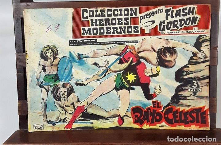 Tebeos: FLASH GORDON, Y EL HOMBRE ENMASCARADO. 67 EJEMPLARES. EDIT. DOLAR. MADRID. 1958. - Foto 4 - 138007478