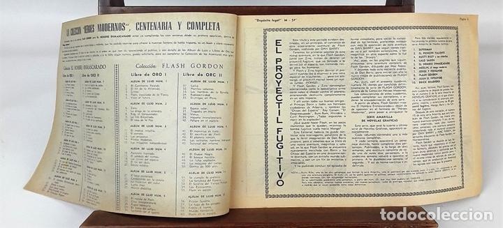 Tebeos: FLASH GORDON, Y EL HOMBRE ENMASCARADO. 67 EJEMPLARES. EDIT. DOLAR. MADRID. 1958. - Foto 7 - 138007478