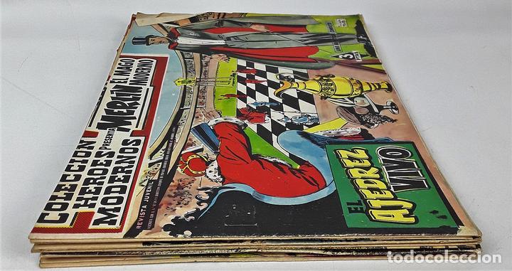 MERLIN EL MAGO MODERNO. 11 EJEMPLARES. EDITORIAL DÓLAR. MADRID. 1958. (Tebeos y Comics - Dólar)