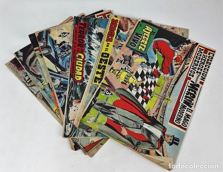Tebeos: MERLIN EL MAGO MODERNO. 11 EJEMPLARES. EDITORIAL DÓLAR. MADRID. 1958. - Foto 2 - 138021994