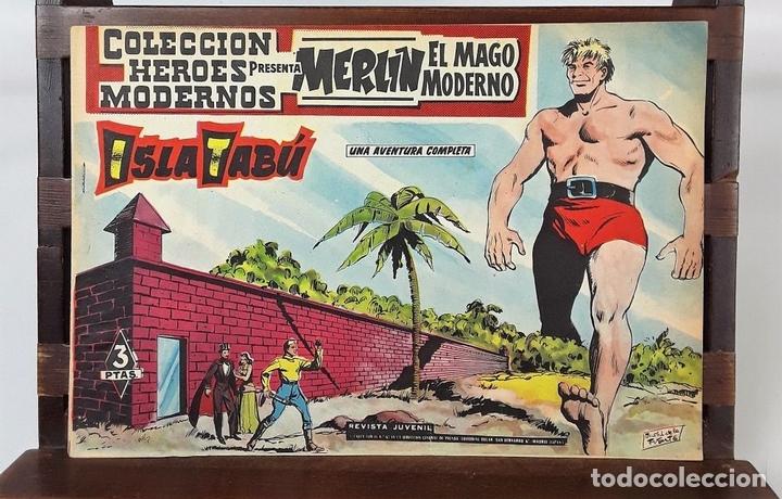 Tebeos: MERLIN EL MAGO MODERNO. 11 EJEMPLARES. EDITORIAL DÓLAR. MADRID. 1958. - Foto 7 - 138021994